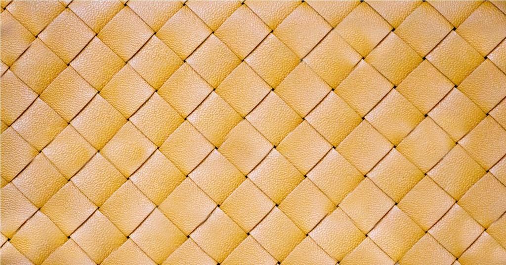 woven Italian leather