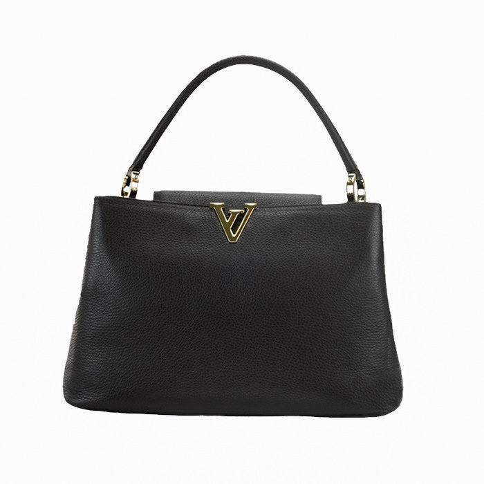 Medium Satchel Bag with Golden Hardware, Brown