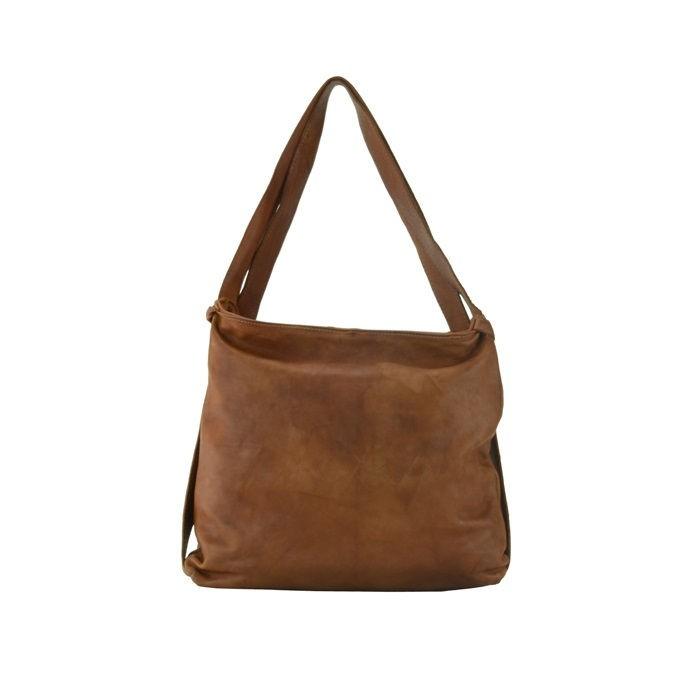 Soft Leather Hobo Bag, Brown