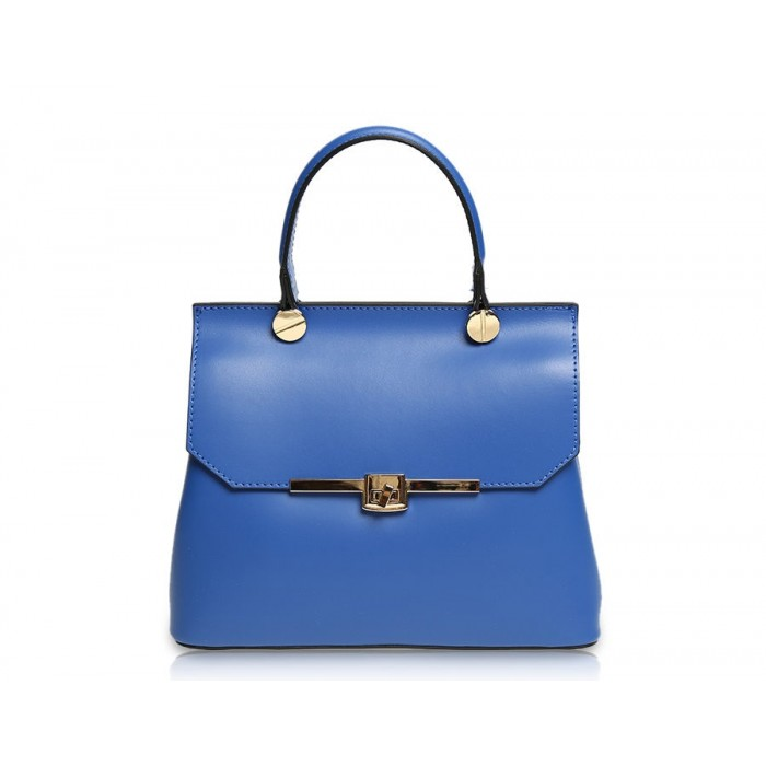 Mini Calf Grained Leather Satchel Bag, Royal Blue