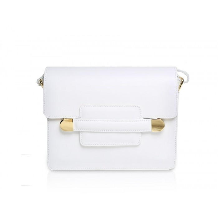 Small Leather Shoulder Bag, White