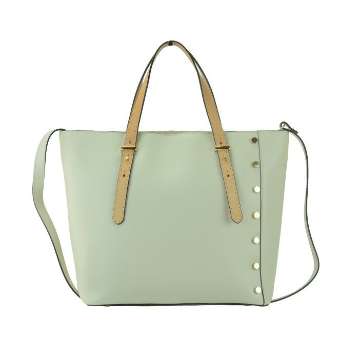 98c462a7aded large top zip leather tote bag cream best website e3a11 849d5 ...