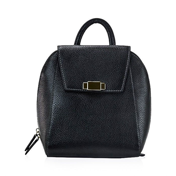 f6898ce225 Flap Pebbled Leather Backpack