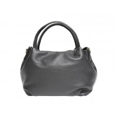 Mini Bag in Pebbled Leather, Black