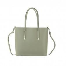 Medium Leather Tote Bag, Taupe
