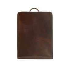 Calfskin Leather Backpack, Chocolate Brown