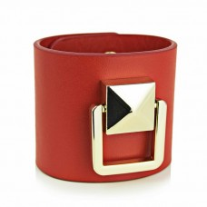 Red Leather Bracelet, Red