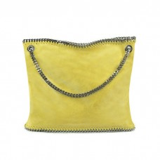 Large Leather Chain Tote Bag, Sunflower