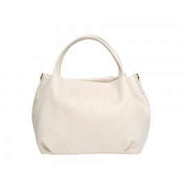 Mini Bag in Pebbled Leather, Beige