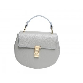 Mini Top-Handle Bag, Light Gray
