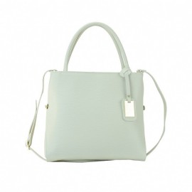 Large Leather Satchel Bag, Beige