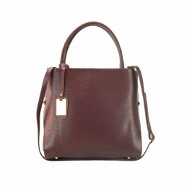 Large Leather Satchel Bag, Burgundy