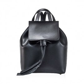 Small Leather Backpack, Black