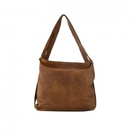 Soft Leather Hobo Bag, Brown
