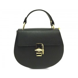 Mini Top-Handle Bag, Black