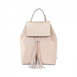 Rich Calfskin Leather Backpack, Light Pink