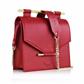 Medium Square Calfskin Leather in Red