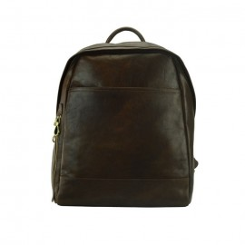 Men's Large Leather Backpack, Brown