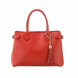 Medium Leather satchel Bag, Red
